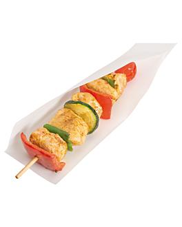 sacos abertos, aperitivos, hot dogs 'open pack' 35 g/m2 + 10 peld 15x13/10 cm branco kraft (100 unidade)