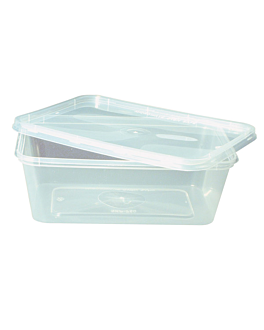 rectangular containers 750 ml 17,5x12x5,3 cm clear pp (500 unit)