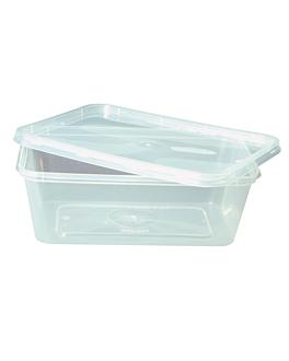 recipientes rectangulares 750 ml 17,5x12x5,3 cm transparente pp (500 unid.)