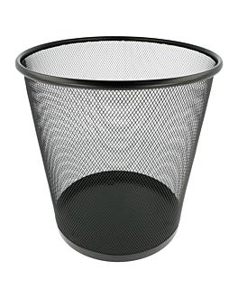 papierkorb mesh 11 l Ø 26,5x29 cm schwarz stahl (12 einheit)