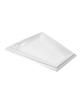 assiette trapezoidale 43x39x4 cm blanc porcelaine (6 unitÉ)