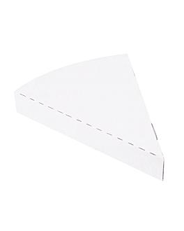 contenitori triangolare pizza 'thepack' 230 g/m2 18x23x3 cm bianco cartone ondulato a nano-micro (400 unitÀ)