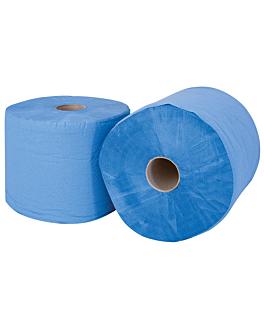 papierrollen blau 2-lagig - 1350 blÄtter 20 g/m2 Ø37,5x26 cm blau papiertuch (2 einheit)