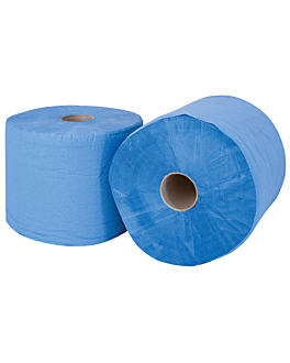 matatrapos azul 2 capas - 1350 hojas 20 g/m2 Ø37,5x26 cm azul tissue (2 unid.)