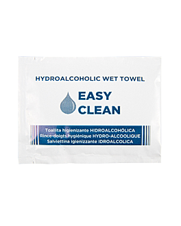 hydro-alcoholic wipes 'easy clean' 6x8 cm white cellulose (1500 unit)