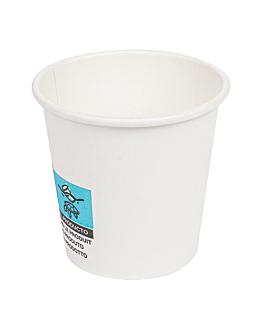 gobelets boissons chaudes 1 paroi 'espresso' 70 ml 230 + 18 pe g/m2 Ø5/3,5x4,9 cm blanc carton (1000 unitÉ)