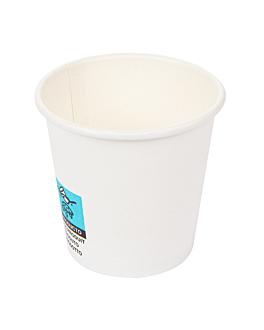 bicchieri bevande calde 1 parete 'espresso' 70 ml 230 + 18 pe g/m2 Ø5/3,5x4,9 cm bianco cartone (1000 unitÀ)