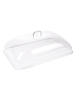 dome cover 36x51x14 cm clear polycarbonate (1 unit)