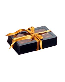 cajas bombones 14,5x7,5x3,5 cm negro cartÓn (50 unid.)