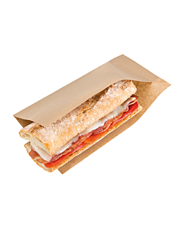open bags for morsels, hot dogs 'open pack' 35 gsm + 10 peld 25x13/10 cm natural kraft (100 unit)