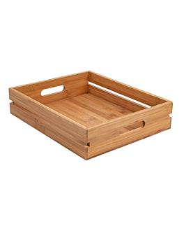 portable box 32,5x26,5x7 cm natural bamboo (1 unit)
