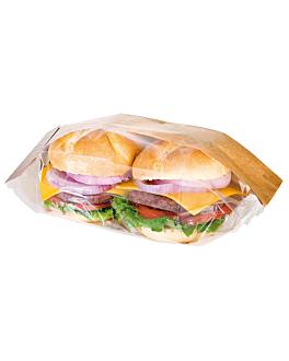 sachets pour sandwiches 'corner window' 40 g/m2 9+5,5x18 cm naturel kraft (250 unitÉ)