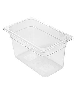 gastronorm pan 1/4 3,8 l 26,5x16,2x15 cm clear polycarbonate (1 unit)