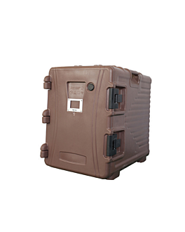 isothermal case 90 l 62x43x64 cm brown plastic (1 unit)