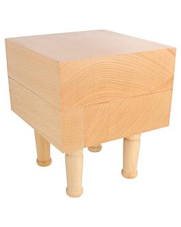 mini ceppo porta pallets 15,25x15,25x17,5 cm naturale legno (1 unitÀ)