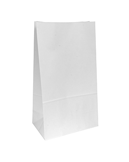 sos bags without handles 80 gsm 25+15x43,5 cm white cellulose (250 unit)