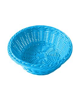 corbeilles similaire osier rondes Ø 20x8 cm bleu turquoise pp (12 unitÉ)