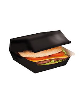 """cajas """"lunch box"""" 275 g/m2 22,5x18x9 cm negro cartoncillo (300 unid.)"""