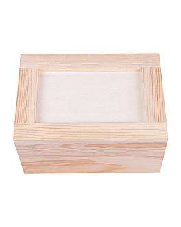 dispensador servilletas mini servis 15x11x8 cm natural madera (1 unid.)
