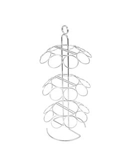 espositore 27 coni Ø18x42,5 cm argento metal (1 unitÀ)