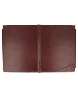bill presentation holder 16,5x22,5 cm burgundy leather (1 unit)