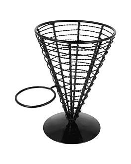 basket pour 1 rÉcipient Ø 12,8x18 cm noir acier (1 unitÉ)
