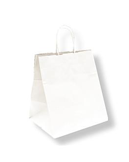 bolsas sos catering con asas 90 g/m2 26+20x27 cm blanco celulosa (250 unid.)