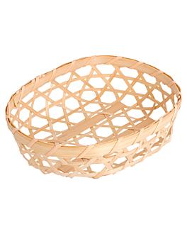cestas tejidas, oval 13x10x3 cm bambÚ (50 unid.)