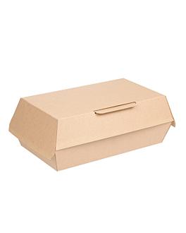 "boÎtes ""lunch box"" 'thepack' 220 g/m2 19,5x11,5x6,5 cm naturel carton ondulÉ nano-micro (300 unitÉ)"