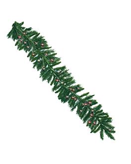 ghirlanda 270 cm verde fibra ottica (1 unitÀ)