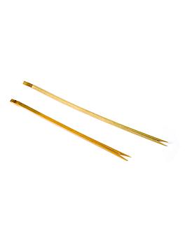 picks doble punta 15 (h) cm natural bambÚ (200 unid.)