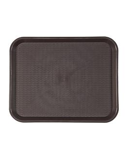 fast food tray 27,5x35,5 cm chocolate pp (1 unit)