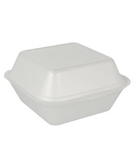 burger boxes 15x15x7 cm white eps (500 unit)