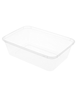 rectangular containers 650 ml 17,5x12x4,5 cm clear pp (500 unit)
