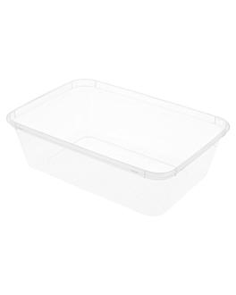 recipientes rectangulares 650 ml 17,5x12x4,5 cm transparente pp (500 unid.)