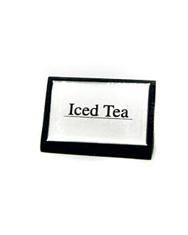 "identificadores ""iced tea"" 7,5x4,5 cm negro madera (12 unid.)"