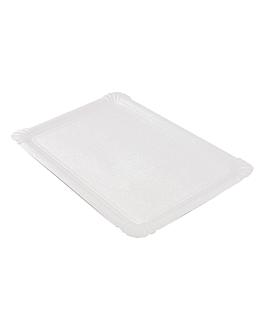 vassoi pasticceria - medi 33x23 cm bianco cartone (125 unitÀ)