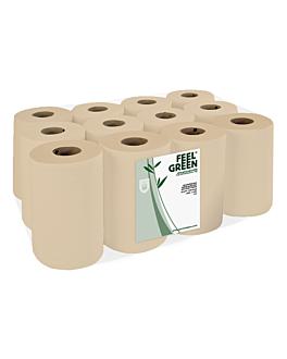 """essuie-mains """"mini-barril"""" ecolabel 2 plis - 160 feuilles 19 g/m2 Ø 13x20 cm naturel papier recyclÉ (12 unitÉ)"""