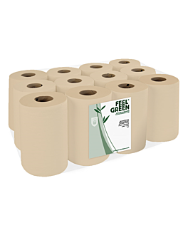"secamanos ""mini barril"" ecolabel 2 capas - 160 hojas Ø 13x20 cm natural papel reciclado (12 unid.)"