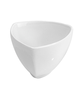 triangular bowl 220 ml 9,6x9,3x6,5 cm branco porcelana (6 unidade)