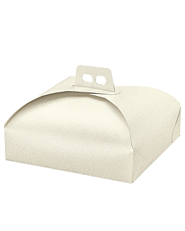 boxes for cakes 31x31x7 cm white cardboard (100 unit)