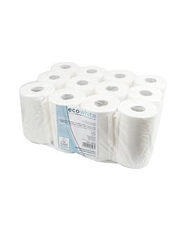 "secamanos ""mini barril"" ecolabel 2 capas - bobina 0,35kg 19 g/m2 Ø 13,2x20 cm blanco tissue (12 unid.)"