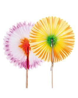 """decorazioni per gelati """"ventagli cinesi"""" Ø7x7 cm colori varie carta (144 unitÀ)"""