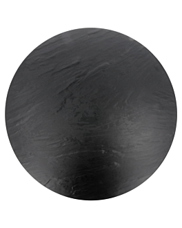 round trays imitation blackboard Ø 43 cm black melamine (3 unit)