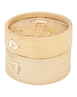 behÄlter mini dampfgarer Ø 8x6 cm natur bambus (10 einheit)