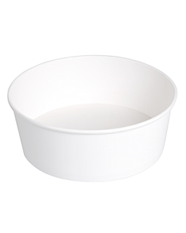 salad bowls 1300 ml 337 gsm + pe Ø 18,7/16x7 cm white cardboard (300 unit)