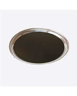 plateaux serveur Ø 40 cm argente inox (10 unitÉ)