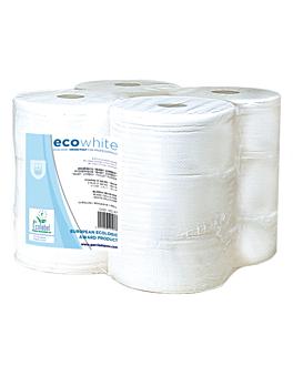"""hygiÉnique """"baby jumbo"""" ecolabel 2 plis - 0,5kg 17 g/m2 Ø19,5x9,5 cm blanc ouate (12 unitÉ)"""