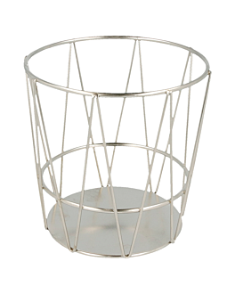 grisines basket Ø 11,5x11,5 cm silver stainless steel (24 unit)