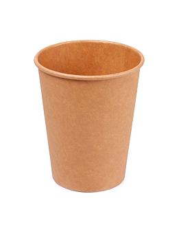 gobelets boissons chaudes 1 paroi 180 ml 260 + 18 pe g/m2 Ø7,2/5,3x7,8 cm marron carton (1000 unitÉ)